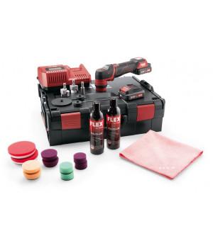 Умная аккумуляторная полировальная машина Flex PXE 80 10.8-EC/2.5 P-Set