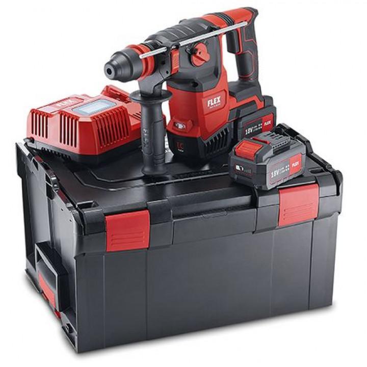 Комбинированный аккумуляторный перфоратор Flex CHE 2-26 18.0-EC/5.0 Set