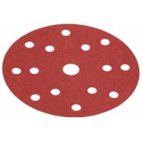 """Шкурка шлифовальная Flex PURFLEX на бумажной основе с креплением на """"липучке"""" D150-15 PU-P60 VE50"""