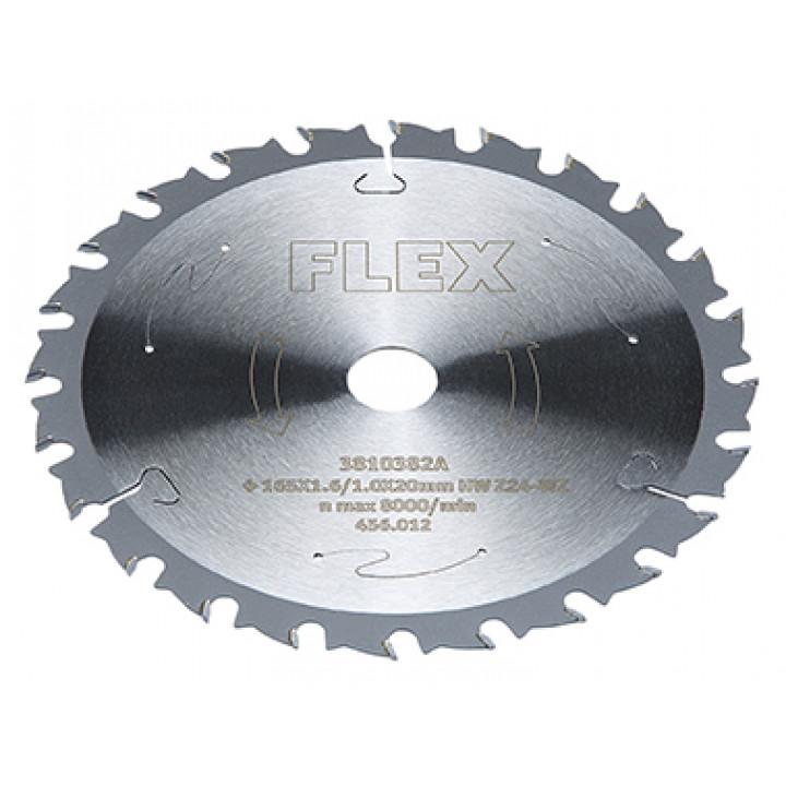 Пильный диск Flex D165x1,6/1,0x20 HM Z=24 WZ