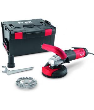 Шлифовальная машина для санационных работ с регулируемой скоростью вращения для беспыльного шлифования вплотную к краю, 125 мм Flex LDE 15-10 125 R, комплект TH-Jet