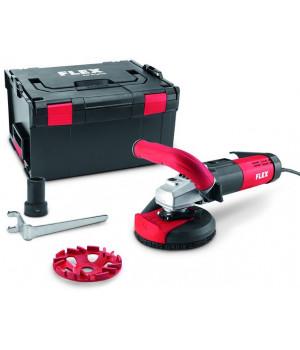 Шлифовальная машина для санационных работ с регулируемой скоростью вращения для беспыльного шлифования вплотную к краю, 125 мм Flex LDE 15-10 125 R, набор E-Jet