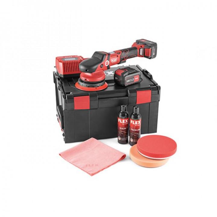 Аккумуляторная эксцентриковая полировальная машина Flex XFE 15 150 18.0-EC/5.0 P-Set