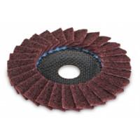 Шлифовальный лепестковый диск Flex SC-VL из нетканого полотна для металла и нержавеющей стали, выпуклый