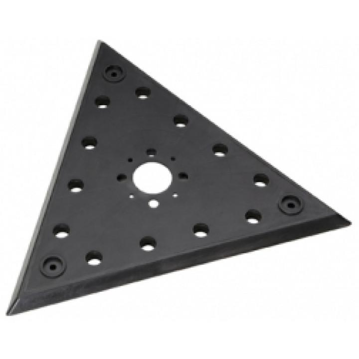 """Шлифовальная пластина Flex с креплением на """"липучке"""", треугольная"""