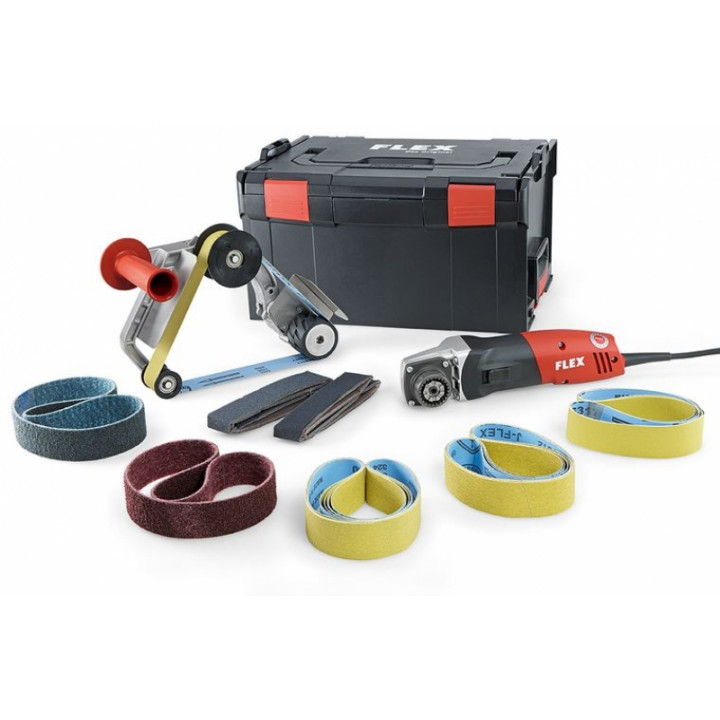 Ленточная машина для шлифования труб Flex TRINOX комплект BRE 14-3 125 Set
